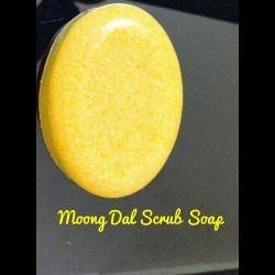Moong dal scrub soap